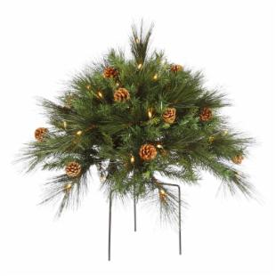 Vickerman 1.5 ft. Manawa Mix Pre-Lit Bush