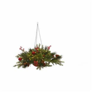 Vickerman Mixed Berry Ball Hanging Basket