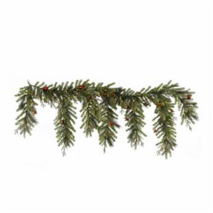 Vickerman 6.5 ft. Pre-Lit Mixed Berry Ball Garland
