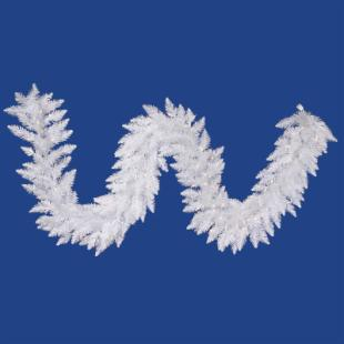 Vickerman 9 ft. Pre-Lit Sparkle White Garland
