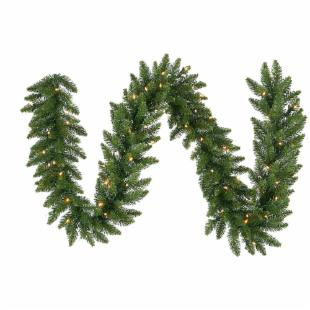 Vickerman 9 ft. Camden Garland with 150 Warm White LED
