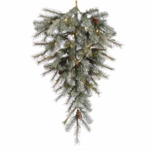 Vickerman 36 in. Pre-Lit LED Frosted Sartell Teardrop