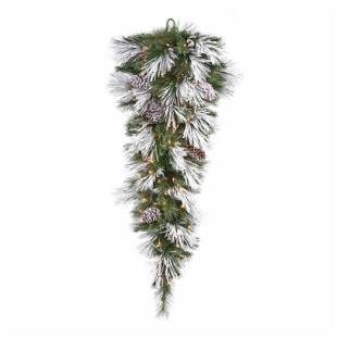Vickerman 48 in. Pre-Lit LED Flocked Mix Teardrop