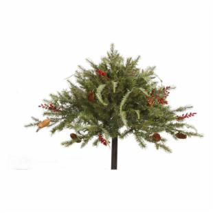 Vickerman Mixed Pine Urn Filler - 100 Clear Lights