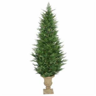 Cypress Potted Pre-lit Christmas Tree