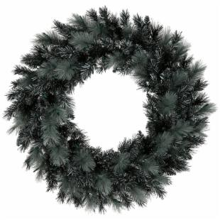 30 in. Black Ash Unlit Christmas Wreath