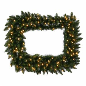 36 in. x 30 in. Camdon Rectangle Prelit Wreath