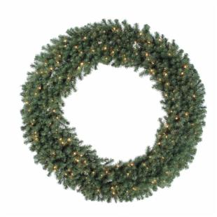 84 in. Douglas Fir Pre-lit Christmas Wreath