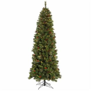 Mixed Pine Slim Pre-lit Christmas Tree