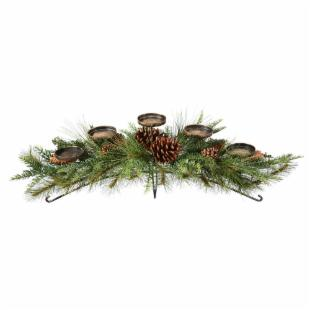 32 in. Zuni Mix Pine 5 Light Candleholder