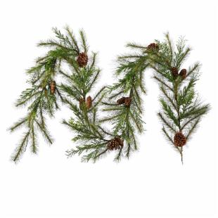 9 ft. Lometa Mix Pine Unlit Garland