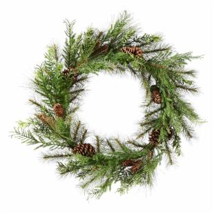 24 in. Lometa Mix Pine Unlit Wreath