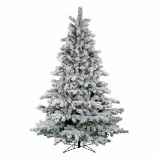 Flocked Aspen Pre-lit Clear Christmas Tree