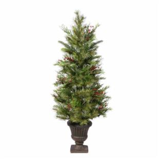 Kunesh Berry Mix Pine Unlit Potted Tree