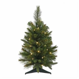 Cashmere Pine Pre-lit Tabletop Christmas Tree