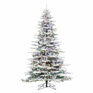 Utica Flocked Pre-lit LED Christmas Tree