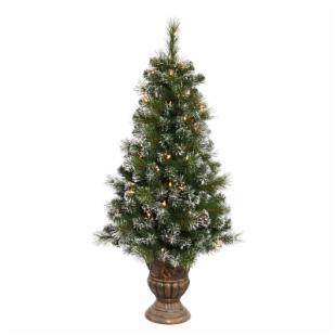 Potted Sweden Pine Pre-lit Tabletop Christmas Tree