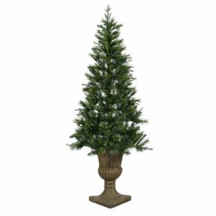 Vickerman Potted Oneco Half Christmas Tree