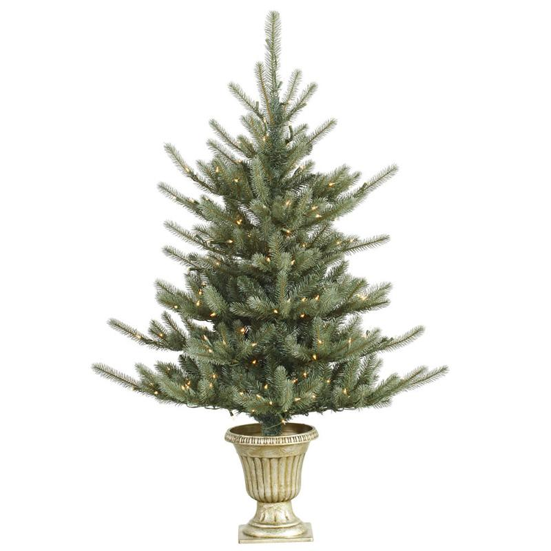 Vickerman 5 ft. Potted Colorado Blue Pre-Lit Christmas Tree