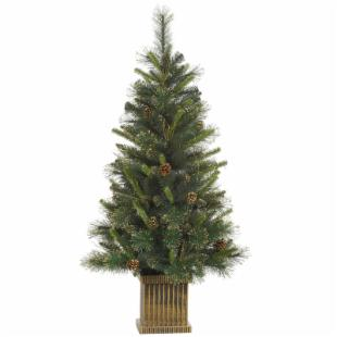 Vickerman Gold Glitter Tip Pine Christmas Tree