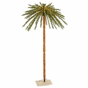 Vickerman 7 ft. Outdoor UV Pre-Lit Palm Tree