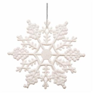 Vickerman 6.25 in. White Glitter Snowflake - Set of 12