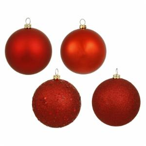 Vickerman 2.75-in. Red 4 Finish Ornament Assorted - Set of 20