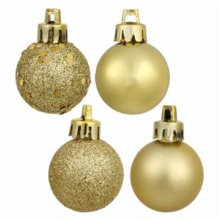 Vickerman 2.75 in. Gold 4 Finish Ornament Assorted - Set of 20