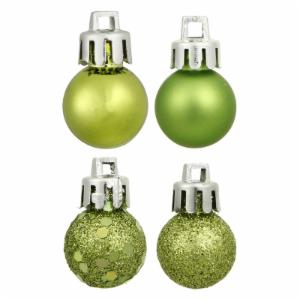 Vickerman 3 in. Lime 4 Finish Ornament Assorted - Set of 16