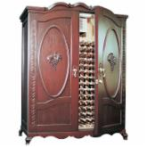 Vinotemp Louis-Napa Carved Grape Motif 400 Bottle Wine Cooling Cabinet