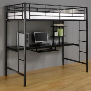 Sunset Workstation Loft Bed - Black