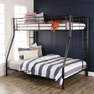 Sunset Metal Twin Over Full Bunk Bed - Black