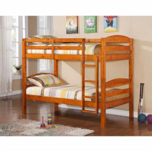 SunriseTwin Over Twin Bunk Bed - Honey