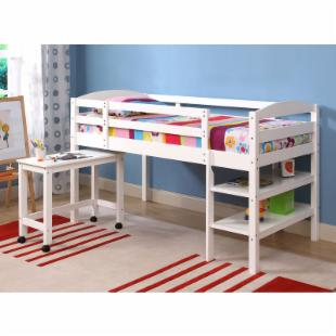 Sunrise Twin Loft Bed with Desk - White