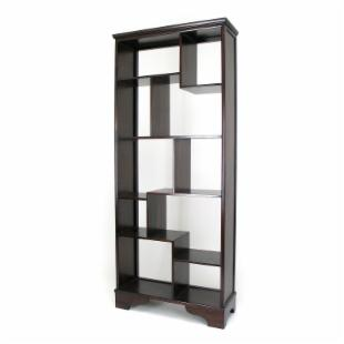 Wayborn Abstract Modular Bookcase in Cherry