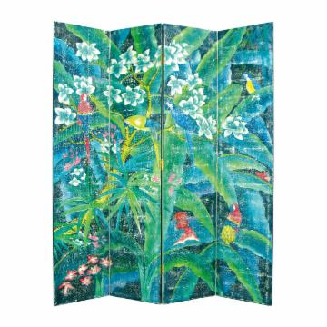 Superb-quality Wayborn Panel Parrot Screen Room Divider 224 - 2324