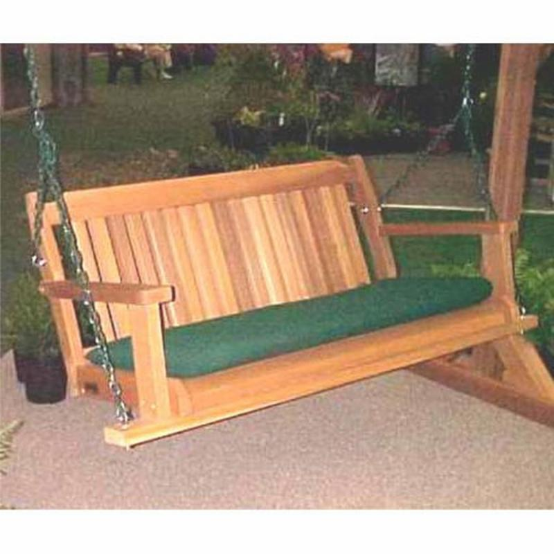 Wood Country Cabbage Hill 4-ft. Cedar Porch Swing Three Color Options FREE Shipping!