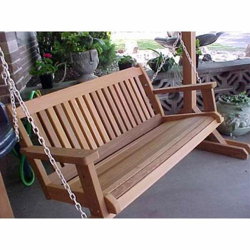 Wood Country Cabbage Hill 5-ft. Red Cedar Porch Swing Five Color Choices FREE Shipping!