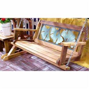 Wood Country Gingko Leaf 4-ft. Porch Swing