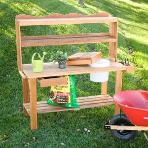 Wood Potting Benches On Hayneedle Wood Potting Benches For Sale