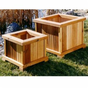 Wood Country Square Cedar Wood Nampa Patio Planter - Set of 2