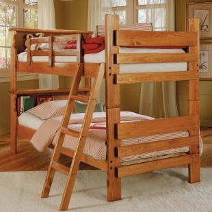 Savannah Bookcase Twin over Twin Bunk Bed