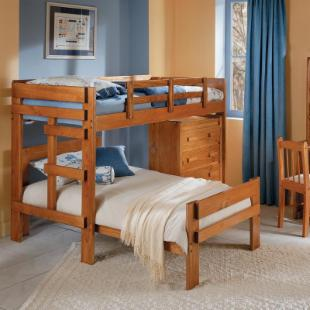 Savannah Cozy Corner Twin Loft Bed with Chest 