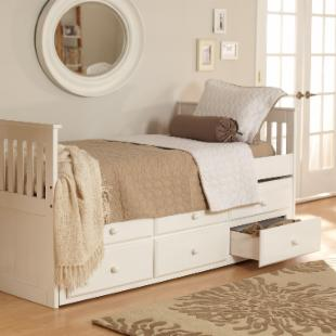 Woodcrest Ethan Mission Trundle Bed