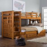  II Twin over Full Bunk Bed with Stairs