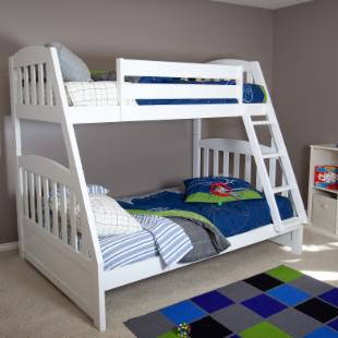 Logan Mission White Twin over Full Bunk Bed