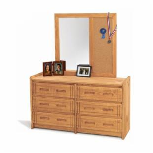 Woody Creek 6-Drawer Dresser with Cork Mirror