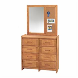 Woody Creek 8 Drawer Dresser with Cork Mirror