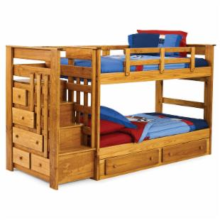 Heartland 500-K Stairway Twin over Twin Knobby Bunk Bed
