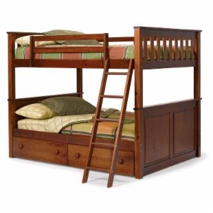Pine Ridge Chocolate Full over Full Bunk Bed